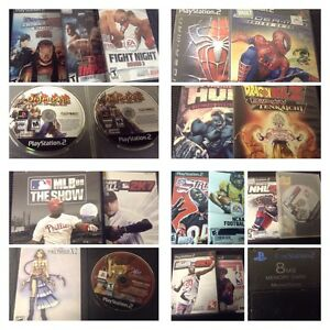 Sony PS2 Games - $5/each