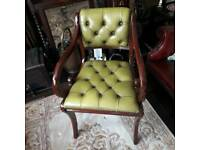 Beautiful leather chesterfield chair