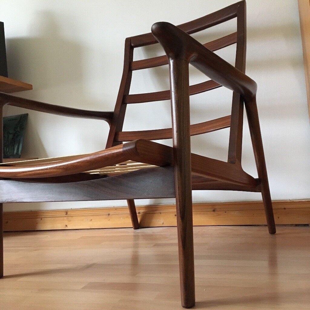 Vintage Retro Mid Century 'Guy Rogers' Teak High Back Lounge Chair