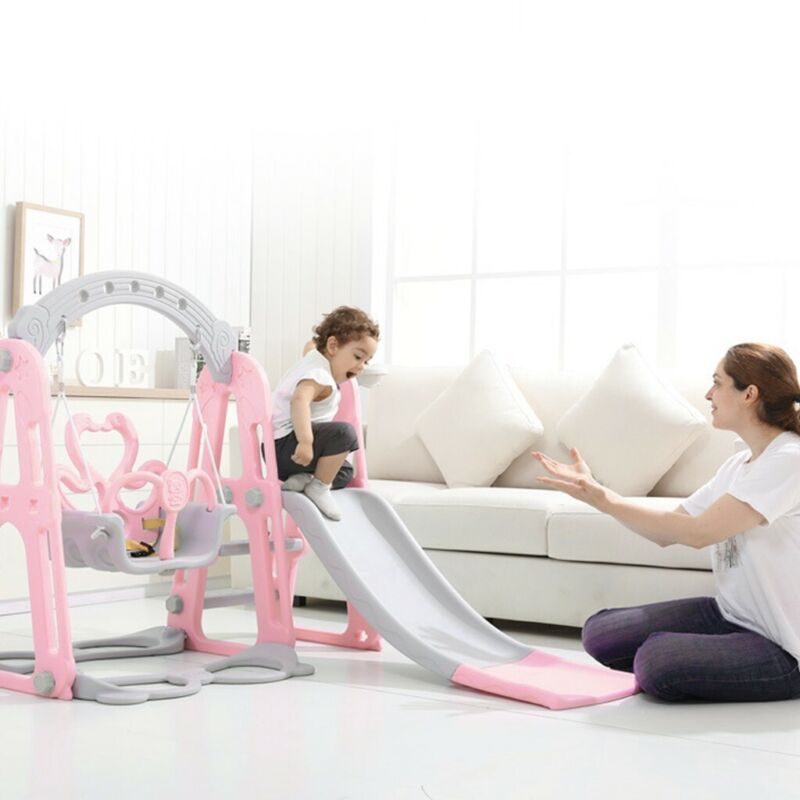 Toddler Climber&Swing Set 4 in1 Climber Slide Playset  For B