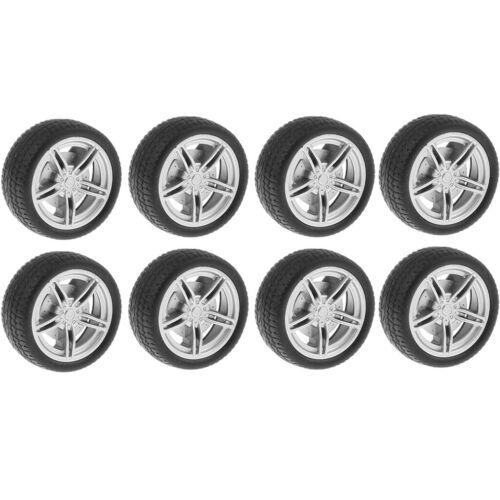 On Road Wheel Rims & Plastic Tires 30mm Hubs For RC Hobby Ca