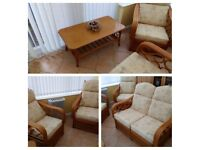 Conservatory suite and matching footstool and coffee table