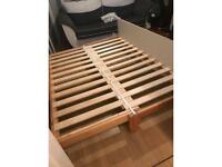 Low trundle Wooden single bed