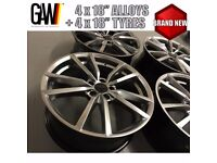 """18"""" VW AUDI SEAT GOLF R R32 PRETORIA ALLOYS WHEELS + TYRES - ALL BRAND NEW ( ASK FOR DELIVERY )"""
