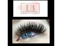 Lash extensions, lash lifts, Gelish polygel nails, brows