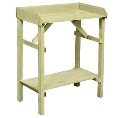 Garden Planter Table Outdoor Plant Stand with 2 Shelves FSC Impregnated Pinewood
