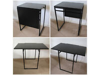 Black IKEA Folding Table Top Extendable Drop Leaf Office Kitchen Dining 74x 60x 48 x 92cm