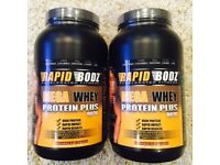 Protein Powder 80% Whey, Weight Loss, Build Muscle, Halal, Kosher, Vegetarian, Strawberry Flavour