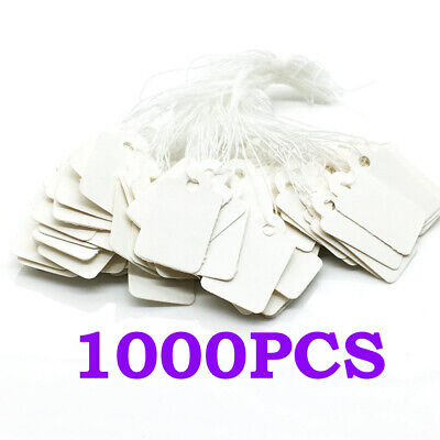 1000x Price Tags Boutique Clothing Hang Labels W String Marking Tag Cards