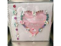 Baby girl memory books