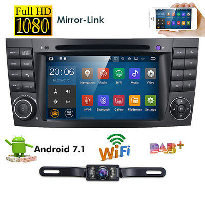 4-Core Android 7.1 Car Stereo DVD Radio GPS for Mercedes Benz E Class W211+Cam