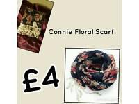 Avon Connie floral scarf