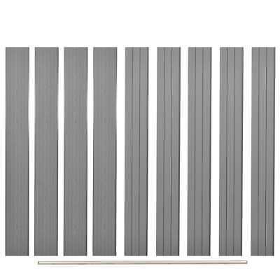 vidaXL 9x Replacement WPC Fence Boards 170cm Grey Outdoor Garden Patio Panel