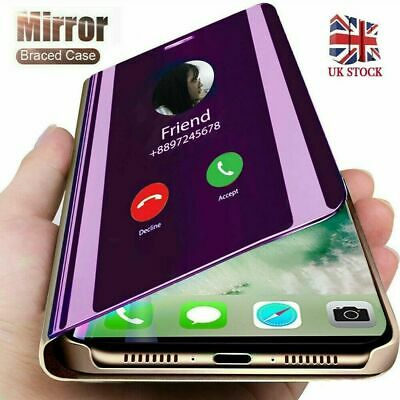 Luxury View Mirror Stand Flip Leather Case Cover For iPhone Xs Max XR 7 8 Plus