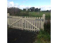 Double Wodden Gates