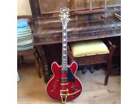 Gibson copy guitar with hard case