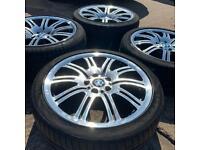 GENUINE BMW M SPORT ALLOY WHEELS & TYRES 19 INCH M3