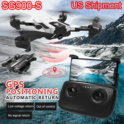 SG900-S Foldable Quadcopter 2.4G 1080P HD Camera WIFI FPV GPS RC Drone 1600mAh