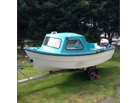 14ft Solar Jiffy Boat/Trailer/Yamaha 4 stroke engine + many extras