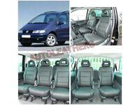 MINICAB LEATHER CAR SEAT COVERS FOR VOLKSWAGEN SHARAN TOYOTA PRIUS PRIUS PLUS TOYOTA AURIS ESTIMA