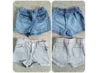 2 years girls shorts