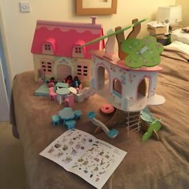 ELC ROSEBUD COTTAGE, FURNITURE & TREEHOUSE