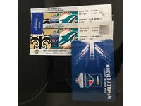 2 x Miami Dolphins Tickets Club Wembley Seats Face Value