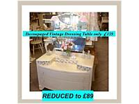 Vintage dressing tables REDUCED to £89
