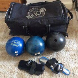 Tin pin bowling balls
