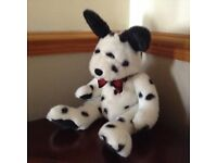 fluffy dalmation toy dog