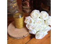 Wedding wooden table centerpieces/Rustic log center pieces/wedding table log slices/bulk item