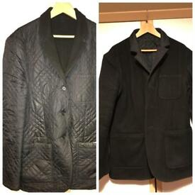 Men's Double Sided Levi's Quilted Chelsea Jacket Smart Casual Wear RainProof in Black