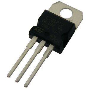 10 L7812CV STM Spannungsregler 7812 Voltage Regulator 1A + 12V TO-220 854762