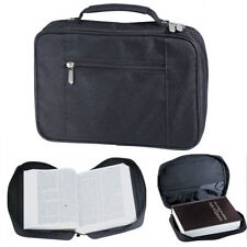 Bible Cover Zippered Protective Holy Book Tote Bag Poly Black