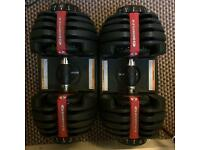 Bowflex adjustable dumbbells 2-24kg