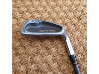 Titleist DTR irons 3-SW (missing 5 and 7 iron) stiff graphite shafts. Right handed.