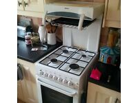 Gas eyelevel cooker. Height 154 x depth 67x width 50cm