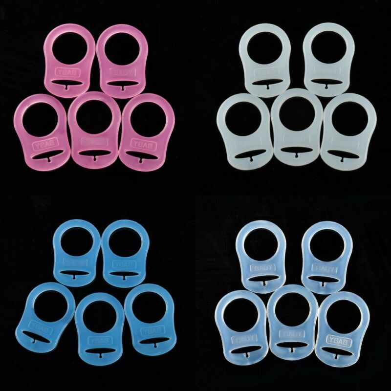 Baby Dummy Pacifier Holder Clip Adapter for MAM Ring 5Pcs/Lo