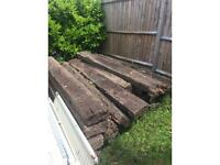 Railway sleepers free, collection from purbrook