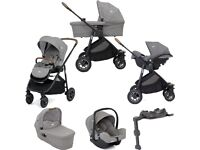 BRAND NEW BOXED Joie versatrax travel system pushchair, car seat, isofix, and carrycot