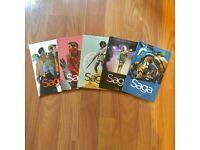 Saga Graphic Novel Comic Collection - One to Five
