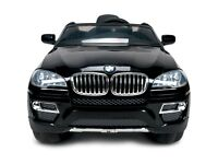 Kids Electric Battery Car BMW X6 12V Ride on Remote Control Rechargeable RC Toys (Black)