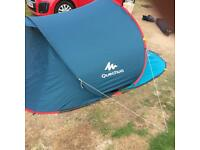 3 man easy pop up tent, only bought last week, used a few nights . not needed no more.