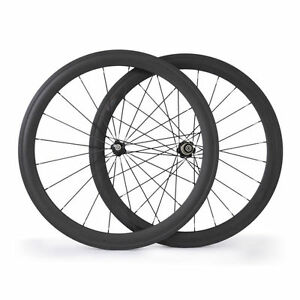 Novatec-Hubs-Road-Bike-Carbon-Wheels-700C-50mm-Clincher-Cycling-Bicycle-Wheelset