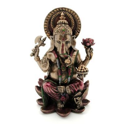 Ganesha Statue 4  Hindu Elephant God Bronze Resin Lord Of Success Ganesh Quality