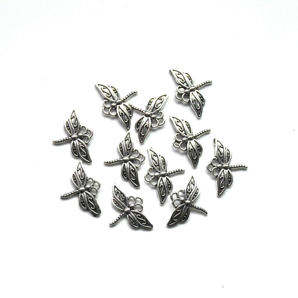 20X Tibetan Silver Dragonfly Charm Pendant 23*16mm For DIY Earrings//Bracelet