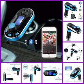 Car Bluetooth MP3 Player Handsfree FM Transmitter Dual USB Aux Wireless Remote