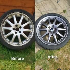 wheels alloys Regeneration paint calipers