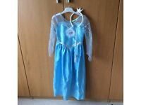Disney Frozen dress with headband - as new