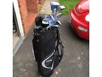 Ladies Dunlop Titanium Golf Clubs Full Set and Bag